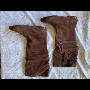 Nine West Burgundy Knee High Boots